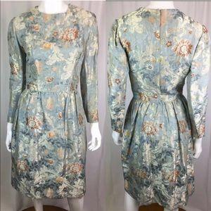 RARE VINTAGE 60's Burke-Amey Pleated Flare Dress